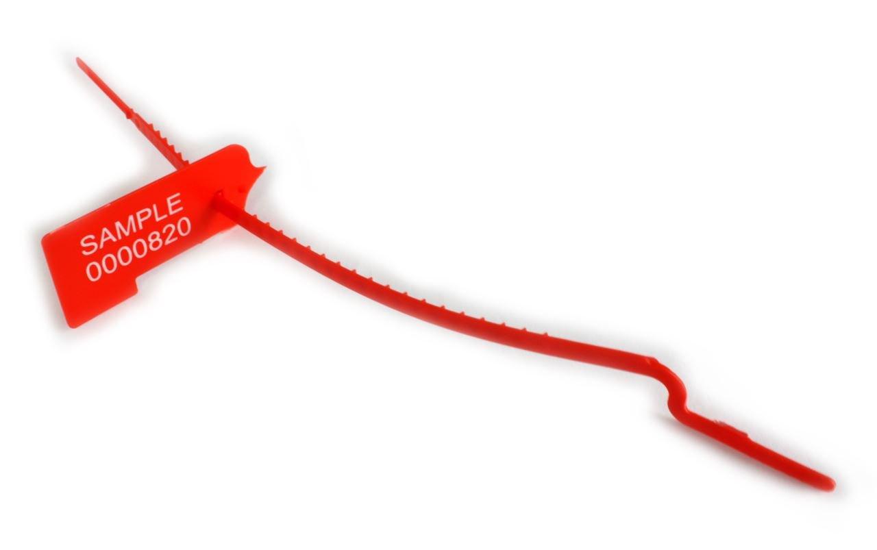 Tracewaste abreißbarer Pull durch Dichtungen – 500 Stück – – – rot B06XWNHMZ4 Kabelbinder Verrückter Preis 57a8b6