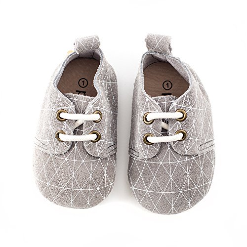Piper Finn Genuine Leather Oxford Shoes - Baby Soft Sole + Toddler Hard Sole Geo
