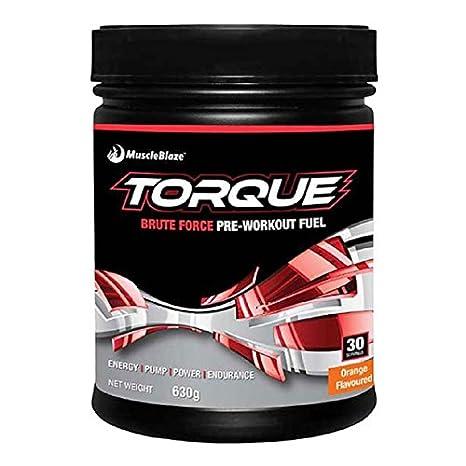 MuscleBlaze Torque Pre-Workout (23 Servings), 1.1 lbs Orange Vitamins, Minerals & Supplements at amazon