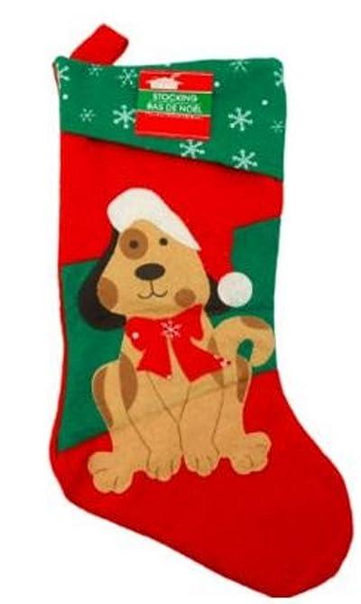 16 1/2 Inch Felt Christmas House Family Pet Christmas Stocking