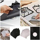 4pcs Kitchen Easy Clean Cooks Gas Rang Hob Liner Stove Top Protectors Tools W