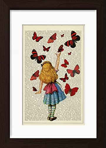 Alice In Wonderland Releases Colourful Butterflies Dictionary Art - Page Colourful