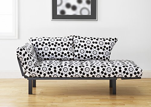 Jerry Sales Bright Day Twin Size Bed Futon Black Metal Frame, Many Color Fabrics to Choose (Well ()