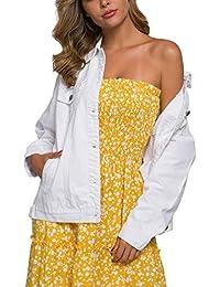 Loose Women's Denim Jean Jacket,Oversize Vintage Denim Jacket,Long Sleeve Boyfriend Denim Jacket Coat