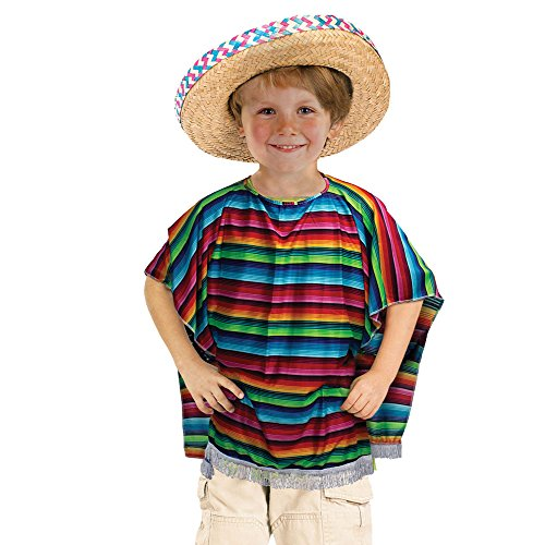 Children's Mexican Poncho (Mexican Girl Costume)