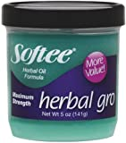 Herbal Gro Maximum Strength - Enhance & Nourish All Hair Types, 5 oz,(Softee Products) - 12 pieces