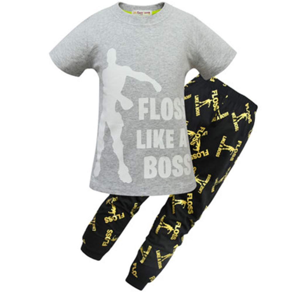 ALAMIng - Pijama Dos Piezas - para niño Gris Gris 150 cm: Amazon ...