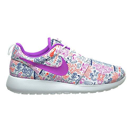 Nike Roshe One Print Prem-damesschoenen Wit / Violet / Total Crimson 749986-168