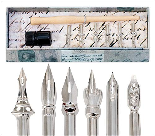 Creative Mark Calligraphy Vintage Drawing Nibs Set - Classic Drawing and Cliigraphy Nib Styles Perfect Gift Set for A Vintage Enthusiast - [Set of 6] by Creative Mark