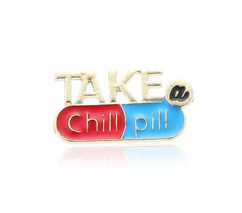 Null Karat Anstecker Pin Take a chill pill schmuckrausch