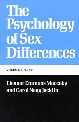 The Psychology of Sex Differences: ―Vol. I: Text