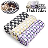 Comsmart Puppy Blanket Warm Dog Cat Flannel Blankets Bed Mat Cover with Dot Print Soft Pet Blanket for Puppies Kitties and Other Small Animals (23Wx32L)