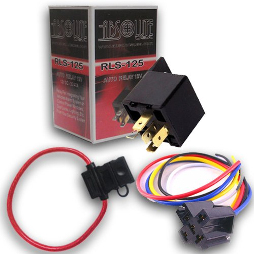 Absolute USA 1 In-line ATC Fuse Holder, 1 Relay RLS125 12 ... on