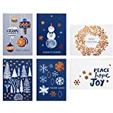 Hallmark Christmas Boxed Cards Assortment, Peace Hope Joy (48 Cards with Envelopes)