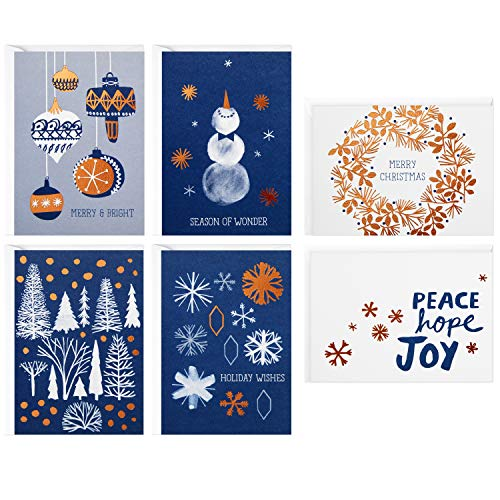Peace Christmas Card - Hallmark Christmas Boxed Cards Assortment, Peace Hope Joy (48 Cards with Envelopes)