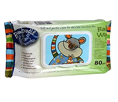 Bumboodle Natural Bamboo Baby Wipes (80-count)