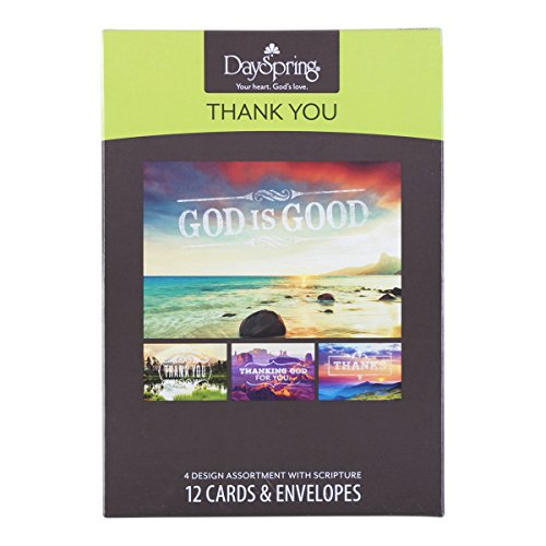 DaySpring Thank You Boxed Greeting Cards w Embossed Envelopes - God is Good, 12 Count (45608) Photo #5