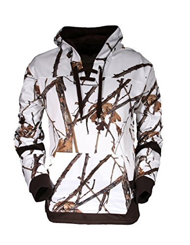 Overtime Camo Hockey Hoodie With Laces by Gamehide (Woodlot Winter, LG) - Gamehide Camo