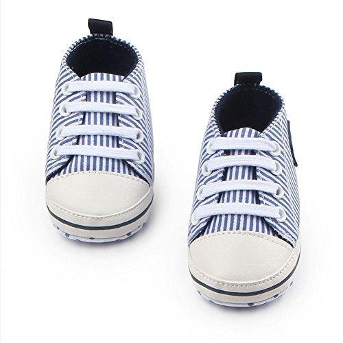 Fire Frog Baby Sneakers - Zapatos primeros pasos de Lona para niño Azul