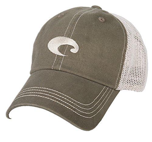 Mesh Mens Hat (Costa Del Mar Mesh Hat, Moss Stone)