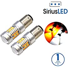 SiriusLED Extremely Bright White and Amber Switchback PX Chipset SMD LED Bulbs with Projector for Car Turn Signal Lights DRL 1157 2057 2357 7528 BAY15D P21/5W