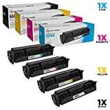 LD Compatible Toner Cartridge Replacements for HP 305A & 305X High Yield (1 Black, 1 Cyan, 1 Magenta, 1 Yellow, 4-Pack)