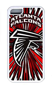 5C Case, iPhone 5C Case Cover, Custom Design Soft Rubber TPU White Cases Atlanta Falcons Shoockproof Protective Case Cover for New Apple iPhone 5C