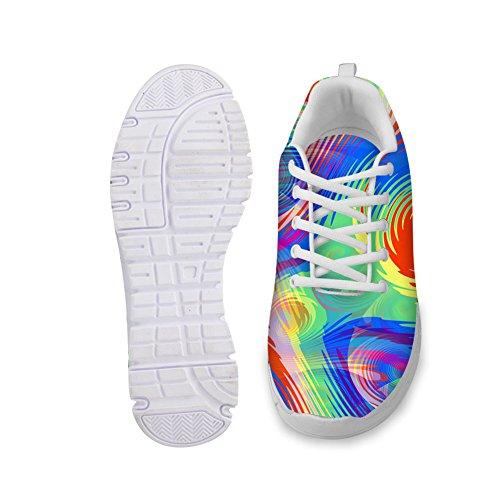 Abbracci Idea Colorato Elegante Moda Donna Scarpe Da Ginnastica Scarpe Da Corsa Multicolor 3