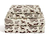 Dog Twin Size 3 Piece Sheet Set Microfiber Bedding, Puppy Pet Animal Lover Gift