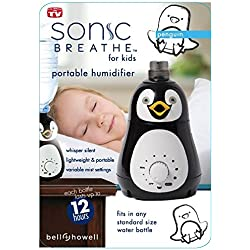 Bell+Howell Ultrasonic Penguin Design Personal Portable Humidifier for Kids and Babies -Cool Mist- lasts up to 12 hours per water bottle