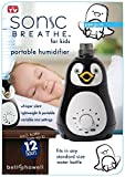 Bell + Howell Ultrasonic Penguin Design Personal Portable Humidifier for Kids and Babies -Cool Mist- lasts up to 12 hours per water bottle