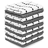 Zeppoli Kitchen Towels, 12 Pack - 100% Soft Cotton - 15 x 25 Inches - Dobby Weave - Great for Cooking in Kitchen and Household Cleaning (12-Pack)