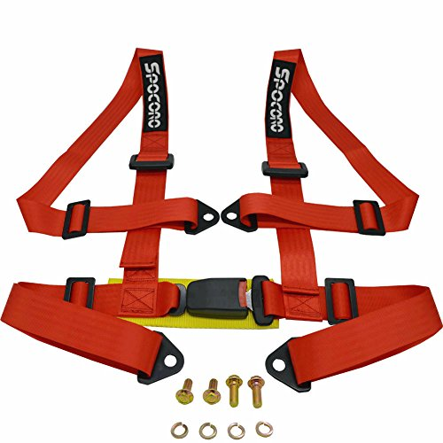 Spocoro SB-0204RD-BK-1 4 Point Racing Safety Harness Buckle with 2