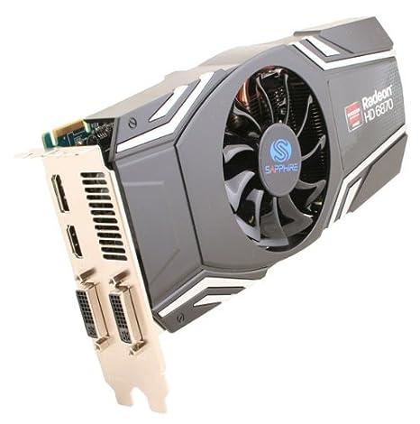 Sapphire Radeon HD6870 - Tarjeta gráfica (Memoria de 1024 MB GDDR5, PCI-e, 256 bit, DVI-I, DVI-D, HDMI, displayPort, Activo)