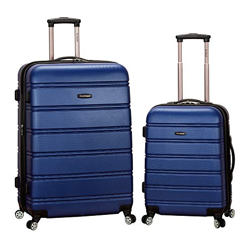 2 Piece Spinner Set - Rockland Luggage 20 Inch 28 Inch 2 Piece Expandable Spinner Set, Blue, One Size