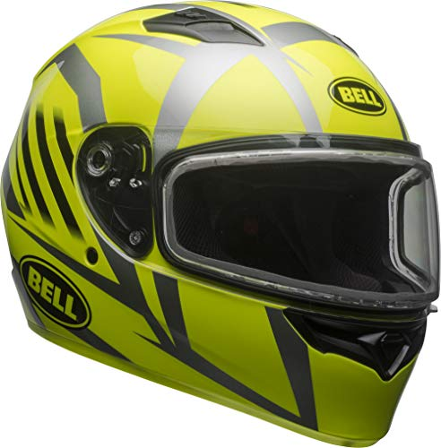 Bell Qualifier Dual Shield Snow Helmet (Blaze Yellow/Titanium, X-Large)
