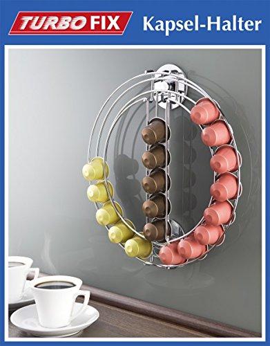 Wenko TurboFIX - Soporte para cápsulas - sin agujeros - Metal dispensador de cápsulas para 24 Cápsulas Nespresso - Dispenser - Soporte para cápsulas ...