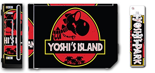 Yoshi's Island Park Jurassic Dinosaur Baby Mario Video Game Vinyl Decal Skin Sticker Cover for the Nintendo Wii System Console