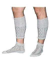 Trachten Haus Men's Long Embroidered German Lederhosen Wool Socks (2 Piece)