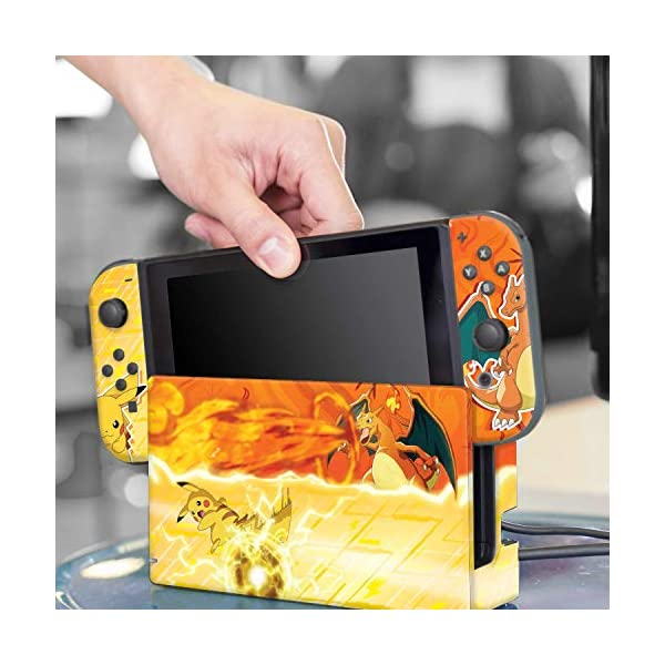Controller Gear Nintendo Switch Skin & Screen Protector Set - Pokemon - Pikachu Vs Charizard Set 1 - Nintendo Switch 8