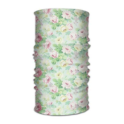 Owen Pullman Multifunctional Headwear Pink Smal Flower Head Wrap Elastic Turban Sport Headband Outdoor Sweatband -