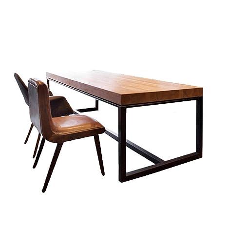 Mesa de comedor Mesa de conferencia de madera maciza escritorio ...