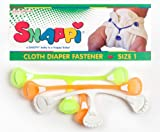 Snappi Cloth Diaper Fasteners - Pack of 3 DAYGLO / NEON (Orange, Yellow, White)
