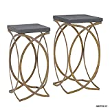 Linon AMZN0225 2 Nesting Tables, Gold