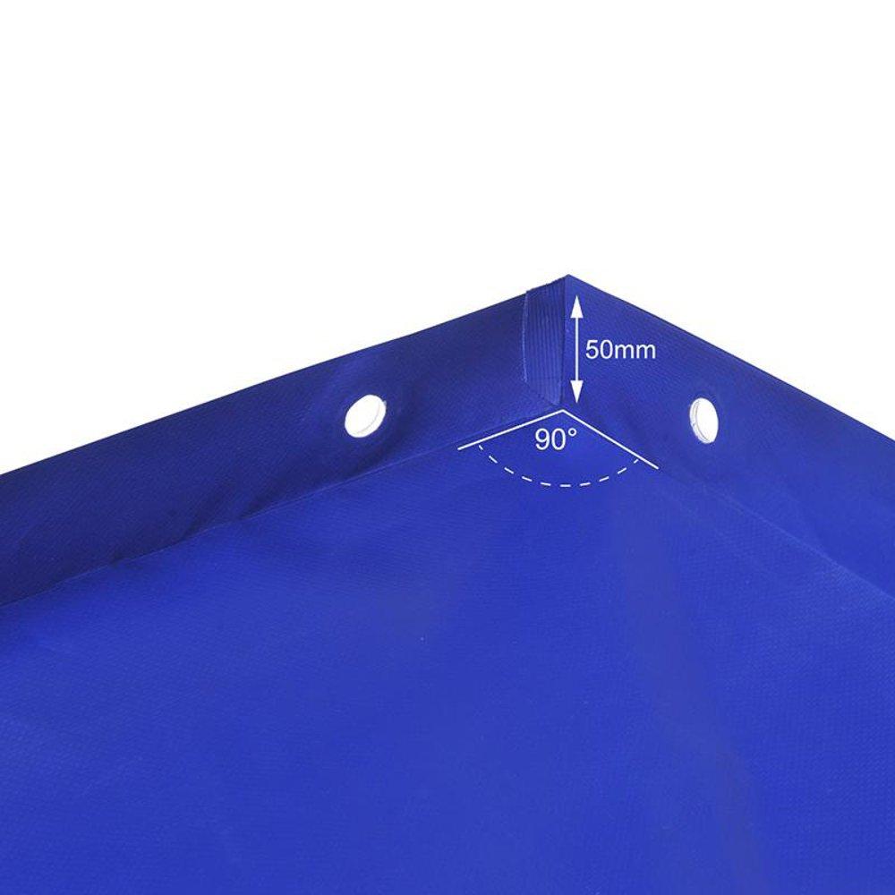 in Bysonil rivestito in PVC 2575/x 1345/x 50/mm 1000 D Telone di copertura con cinghia in gomma per rimorchio da 500/g//m2