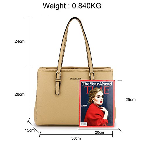Large Faux Bags Shoulder Designer Design Ladies Nude Office College Handbags Womens Leather 2 UqwFHHId