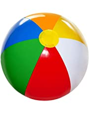4E's Novelty Inflatable Beach Balls Pack of 12 Bulk Large 20-inch, Summer Beach & Pool Party Supplies, Beach Ball for Kids Toddlers Boys Girls