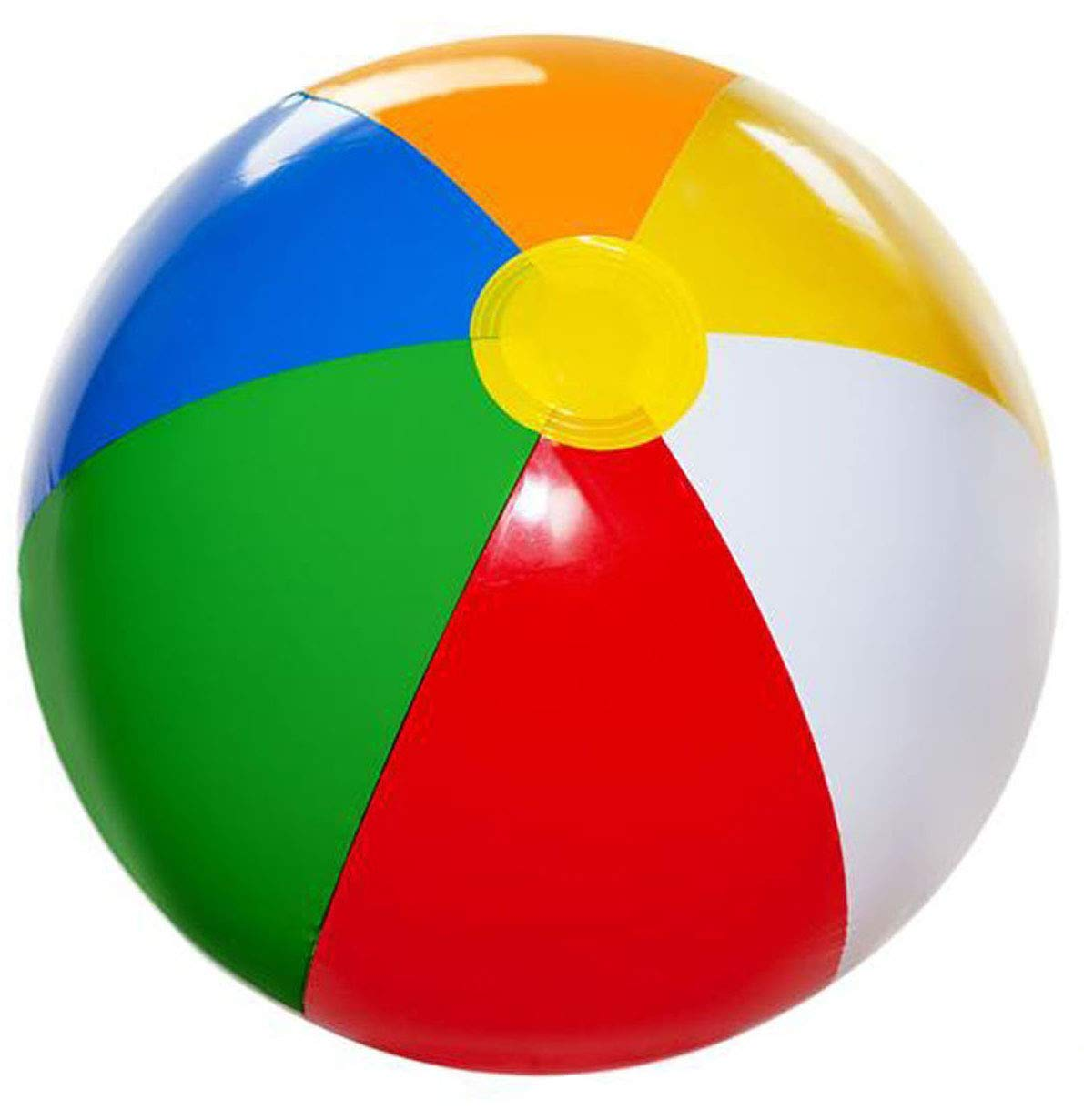 Inflatable Beach Balls Pack of 12 Bulk Large 20 Inches, Summer Beach & Pool Party Supplies, Beach Ball for Kids Toddlers Boys Girls, 4E's Novelty by 4E's Novelty