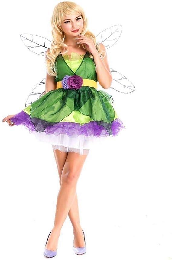 Fashion-Cos1 Adulto Flor Traje de Hada Cuentos de Hadas Elfo Verde ...