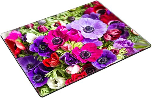 MSD Place Mat Non-Slip Natural Rubber Desk Pads design: 27897256 colorful buttercups bouquet natural - Buttercup Bouquet
